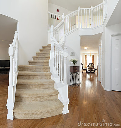 Home interior, staircase