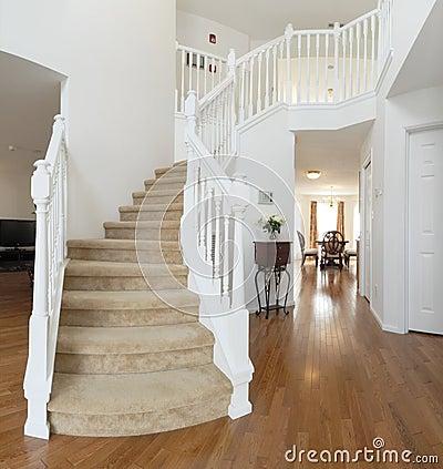 Home interior, staircase