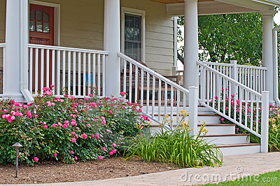 Home Landscaping Porch Royalty Free Stock Photo Image