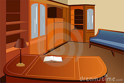 Home library vector
