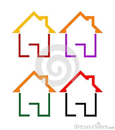 Home Logos Stock Vector - Image: 52706379