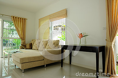 Home luxury interior decorate wide scene