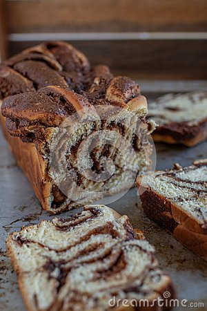 Free Home Made Chocolate Babka Stock Photo - 116145460
