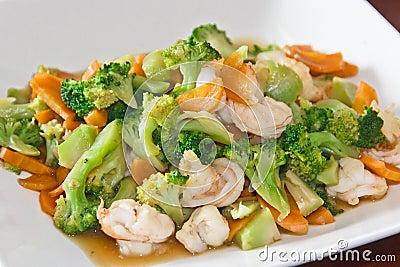 Home made food stir fry vegetable