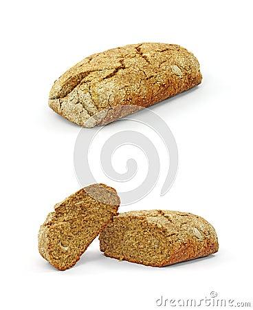 Home made rye bread loafs