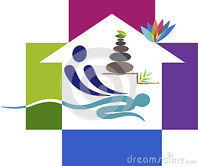 Home massage logo Vector Illustration
