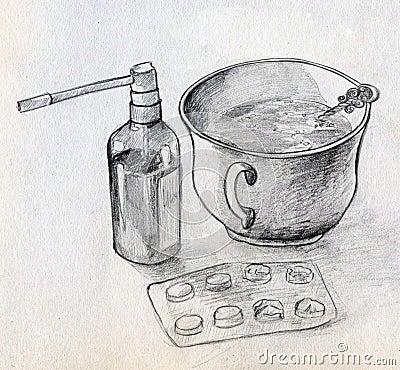 Home medicine still life