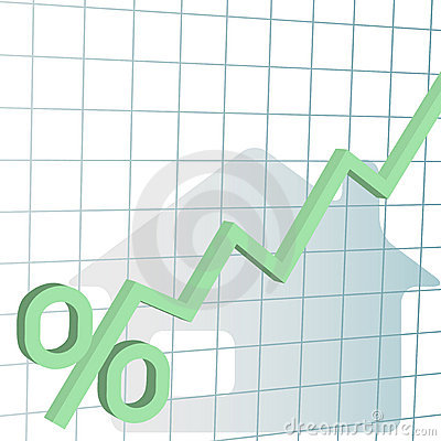 Free Home Mortgage Interest Rates Higher Chart Royalty Free Stock Photography - 12701827