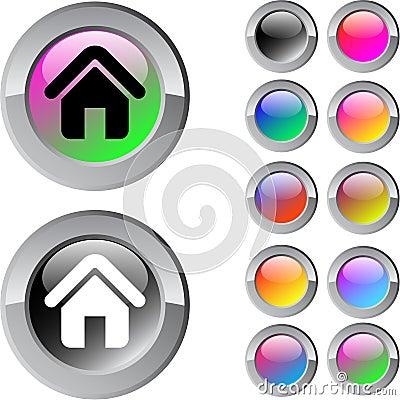 Home multicolor round button.