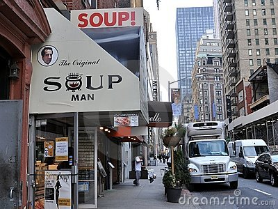 Home of The Original Soup Man Editorial Stock Image