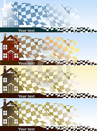 Home purchase banners set