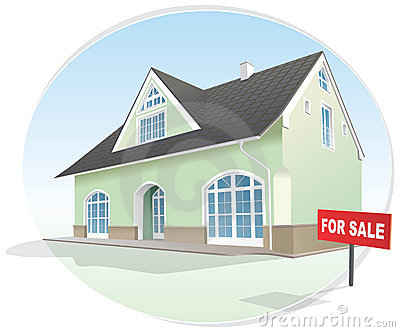 Home, realty for sale. Vector