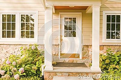 Home rear doorway