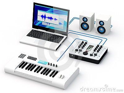 Marvelous Home Recording Studio Equipment Royalty Free Stock Photography Largest Home Design Picture Inspirations Pitcheantrous