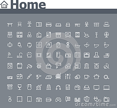 Free Home Related Icon Set Royalty Free Stock Image - 36385216