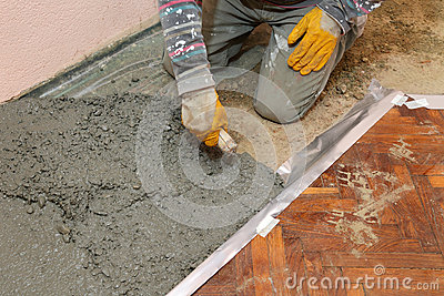Home renovation, concrete
