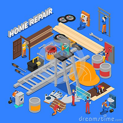 Free Home Repair Composition Royalty Free Stock Images - 107790639