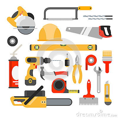 Free Home Repair Tools Vector Icons. Working Repair Tools For Repair Royalty Free Stock Images - 67325229