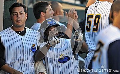 Home run congratulations - baseball Editorial Image
