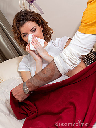 At Home Sick with the Flu