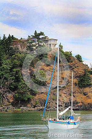Home, Steep Cliff, Sailboat