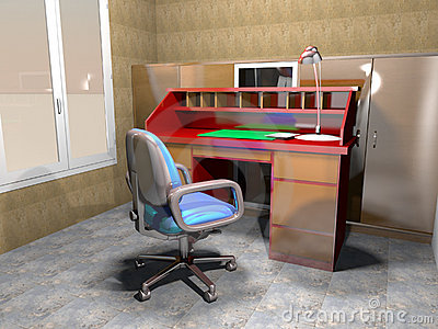 Home studio-3D rendering