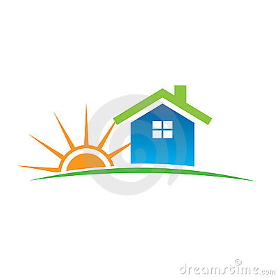 Home and sunshine logo