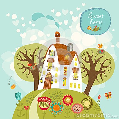 Free Home Sweet Home Royalty Free Stock Photo - 29480375