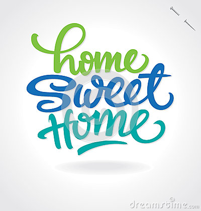 home sweet home  hand lettering (vector)