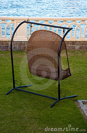 Free Home Swing Chair By Sea Royalty Free Stock Images - 16484679