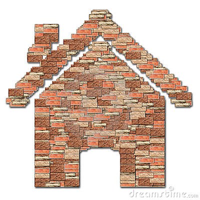 Home symbol brick pattern