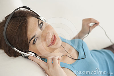Home Tech Woman with Headphones