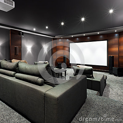 Home Theater Interior Stock Images Image 35700084