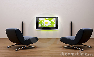 Home theater in room