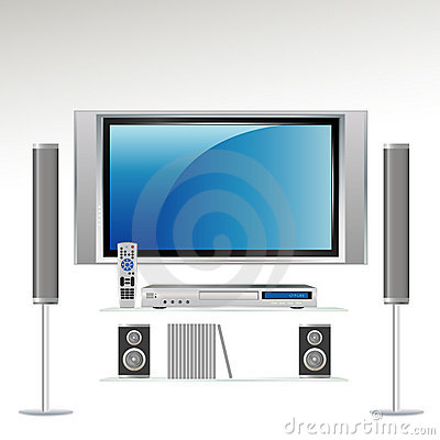 Free Home Theater System | HDTV Royalty Free Stock Images - 3337409