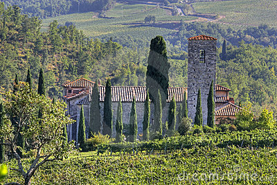 Home in Tuscany landscape