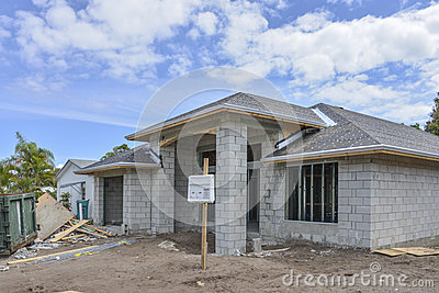 Home Under Construction Stock Photo Image 38876516