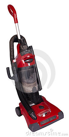 Home Upright Vacuum Cleaner Isolated on White