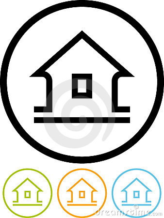 Home - Vector icon on white background