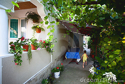 Home with vine alley