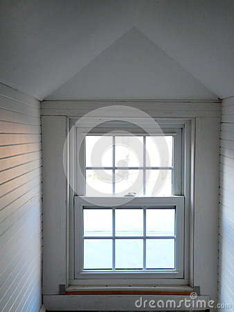 Free Home: White Attic Window Royalty Free Stock Photo - 37138165