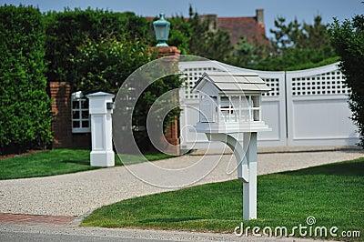 Home white mailbox