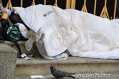 Homeless Editorial Stock Photo