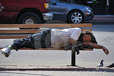 Homeless Editorial Stock Image