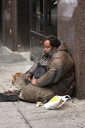 Homeless Man Editorial Image