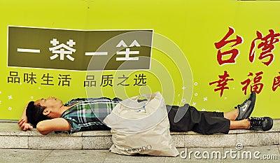 Homeless man Editorial Image