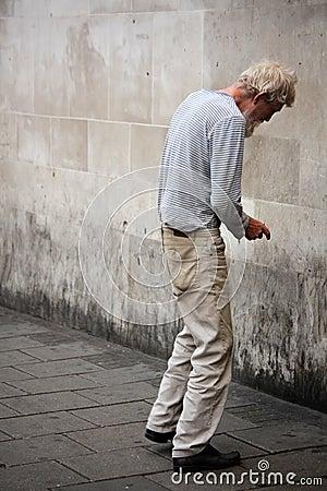 Homeless man Editorial Photo