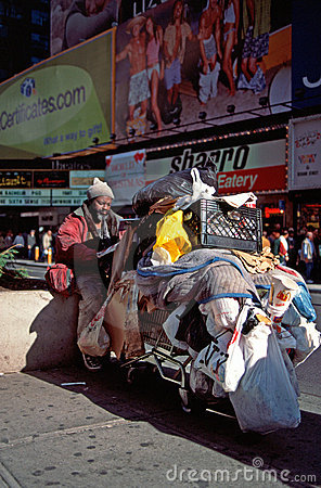Homeless man in New York Editorial Photo