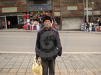 Homeless Man in Yanqing County Editorial Photo