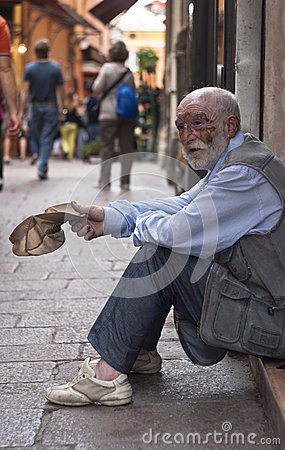 A homeless old man Editorial Photography